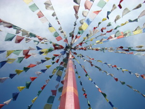 Prayer Flags at Maine Retreat 2009